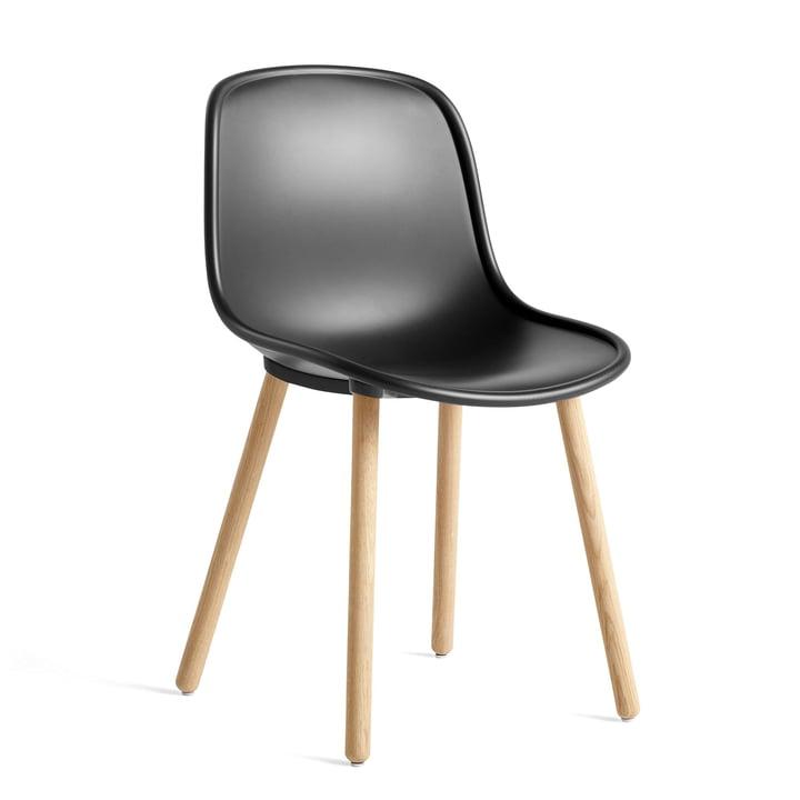 Neu 12 Stuhl, Eiche matt lackiert / soft black von Hay