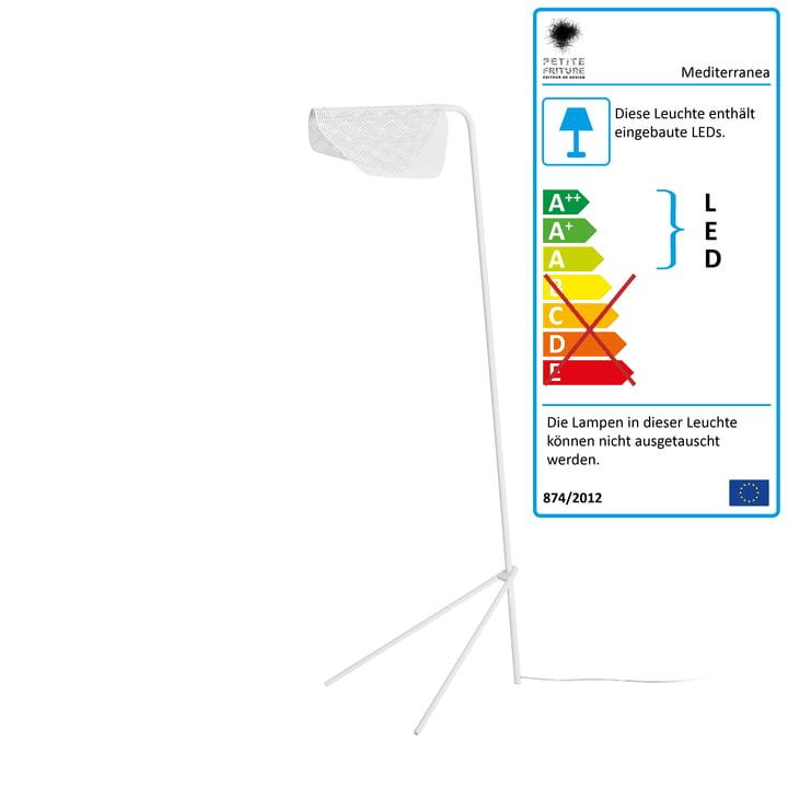 Mediterranea LED-Stehleuchte von Petite Friturein weiss