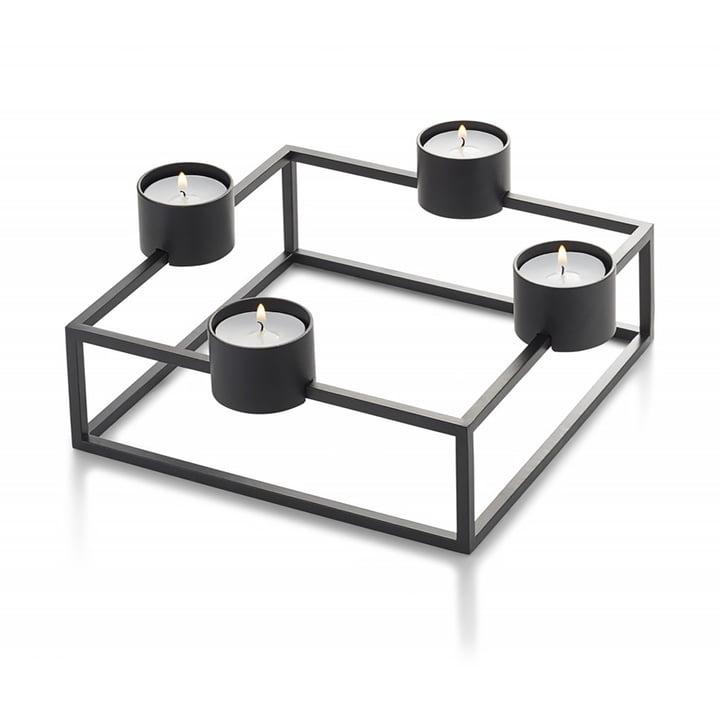 Cubo Teelichthalter, schwarz von Philippi