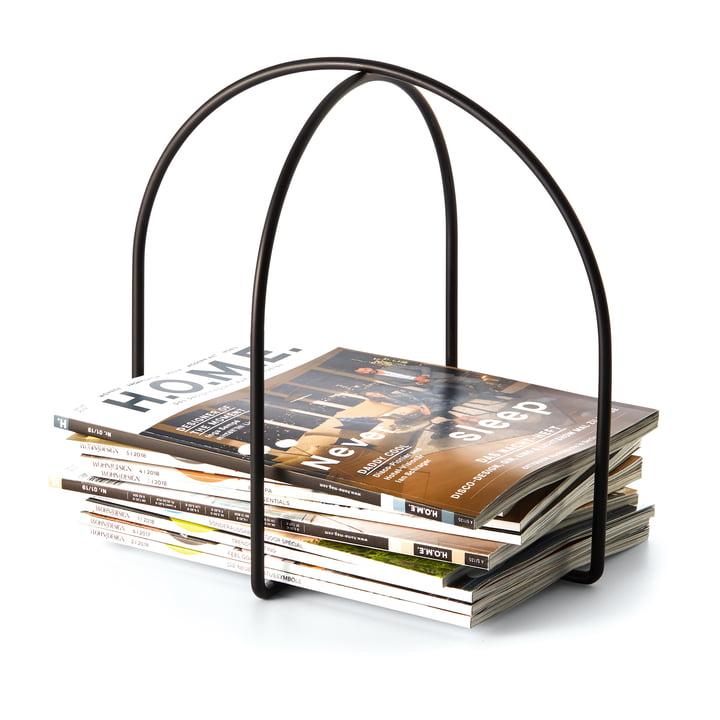 Magazine Zeitschriftenhalter in schwarz von Philippi