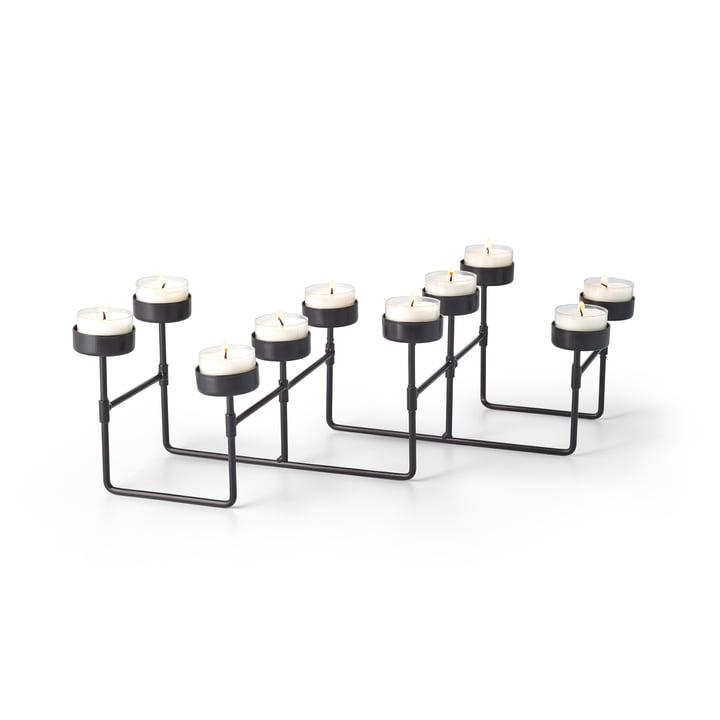 Lab Teelichthalter für 10 Teelichter in schwarz von Philippi