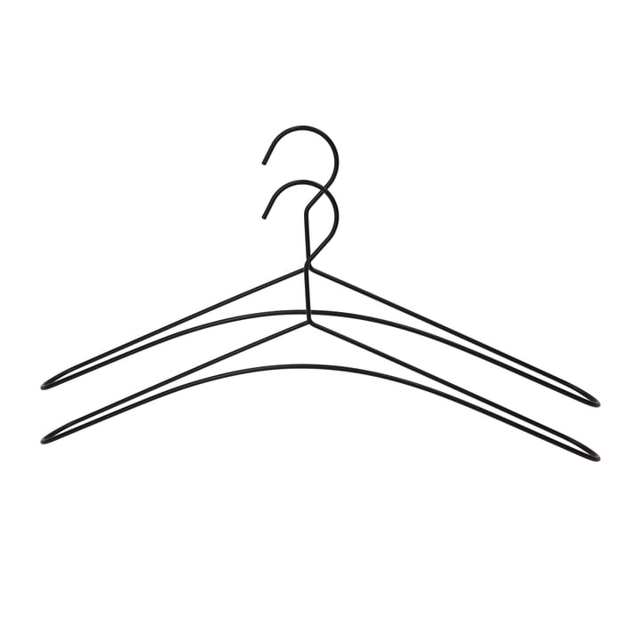 Schwarzer Metall-Kleiderbügel im 2er-Set von Connox