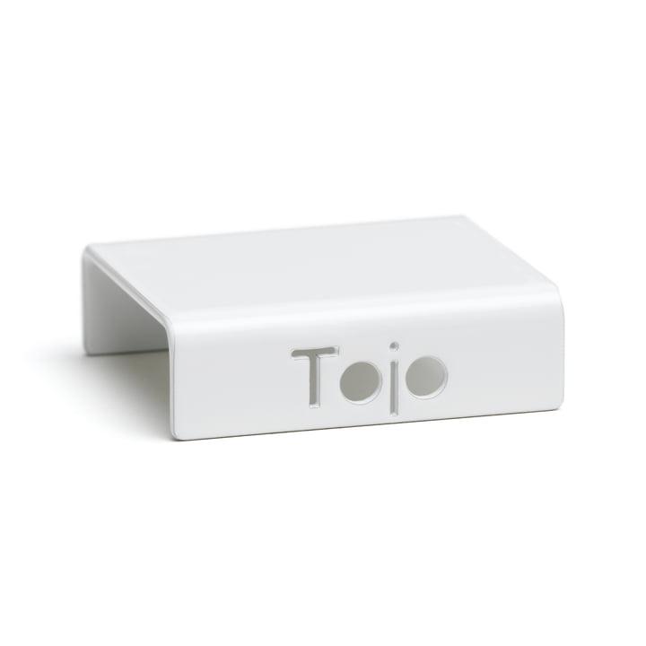 Clip für Hochstapler Regalsystem von Tojo in weiss