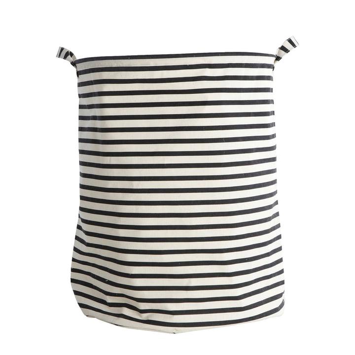 Wäschekorb Stripes Ø 40 x H 50 cm von House Doctor in schwarz / weiss