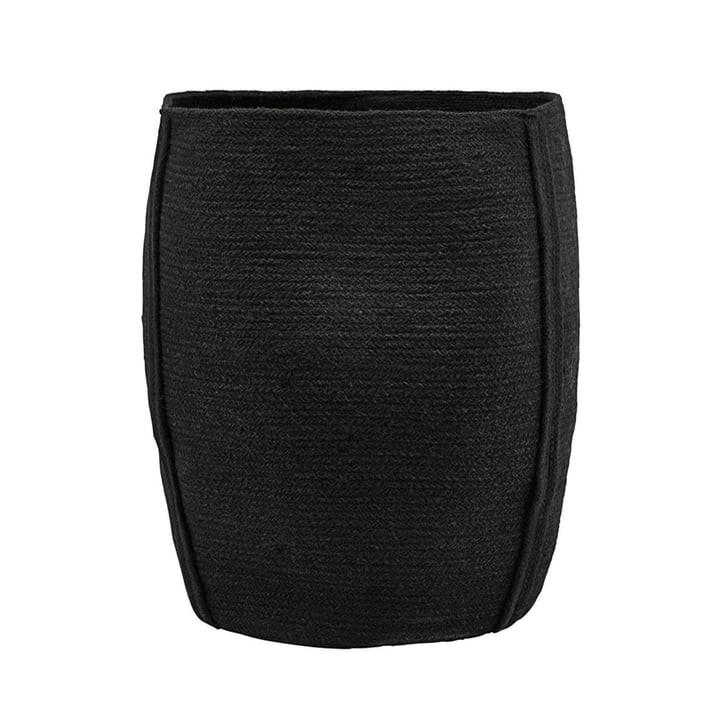 Aufbewahrungskorb Drum Ø 40 x H 45 cm von House Doctor in schwarz