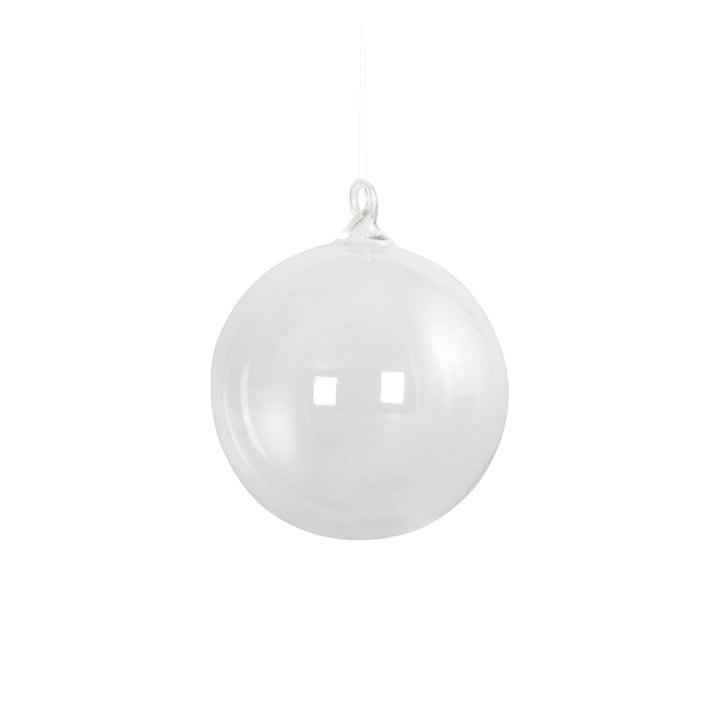 Christbaumkugel aus Glas Ø 8 cm von House Doctor in klar
