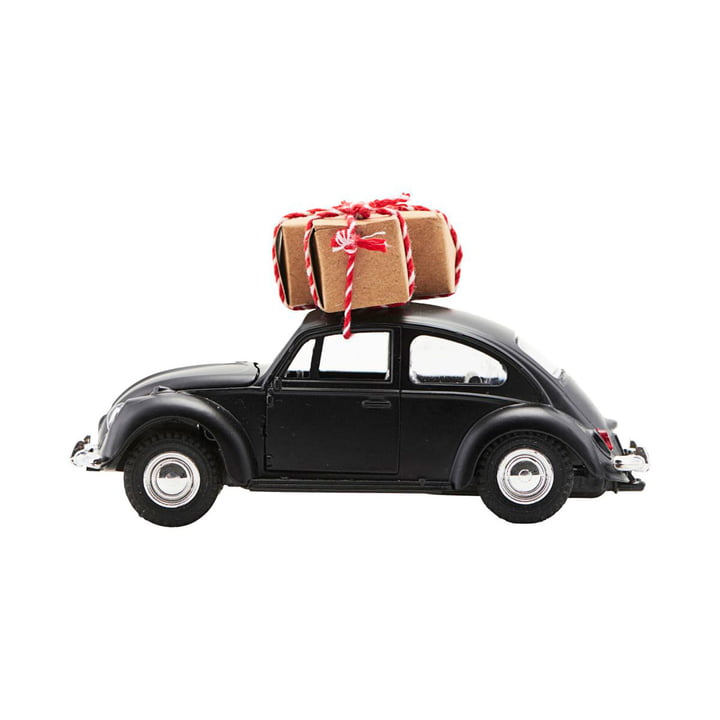 Xmas Cars Deko-Autos 12,5 cm von House Doctor in schwarz