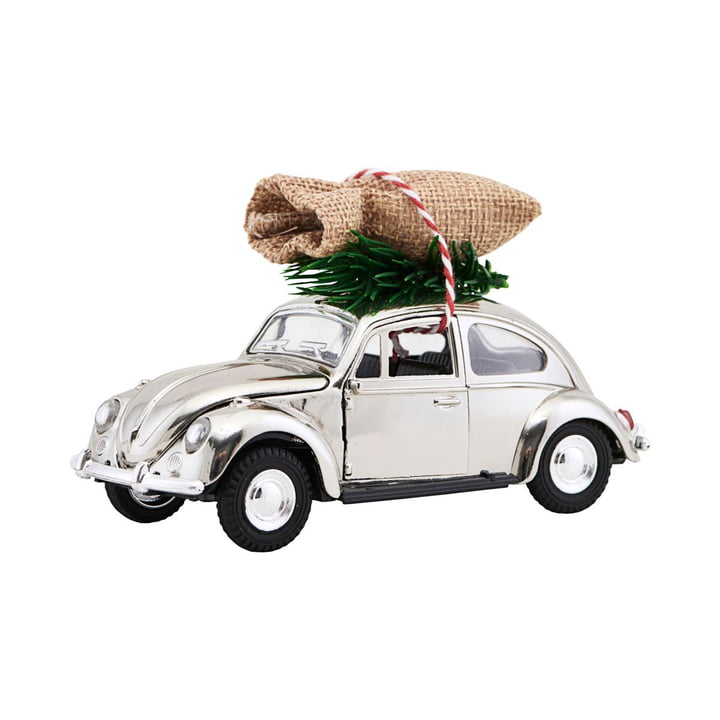 Xmas Cars Deko-Autos 12,5 cm von House Doctor in Chrom