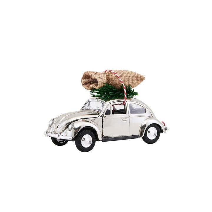 Xmas Cars Deko-Autos 8,5 cm von House Doctor in Chrom