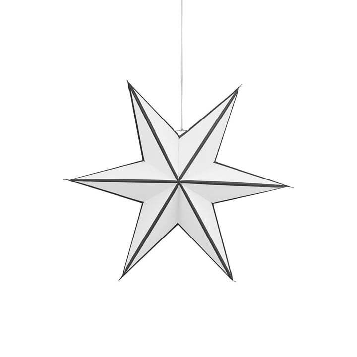 Weihnachtsstern Stroke 45 cm von House Doctor in schwarz / weiss
