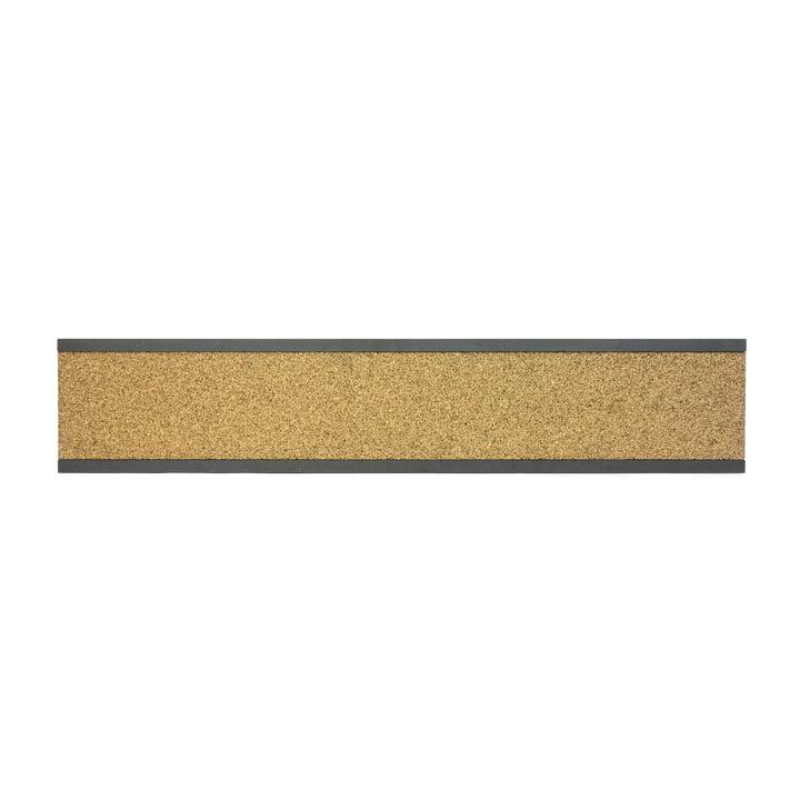 Connox Collection - Pin Korkleiste, MDF schwarz / hoch / 90cm