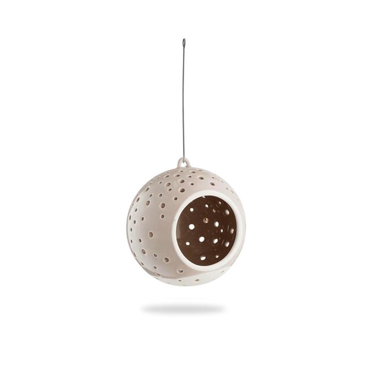 Nobili Teelichtleuchter Kugel Ø 12 cm hängend von Kähler Design in warm grey