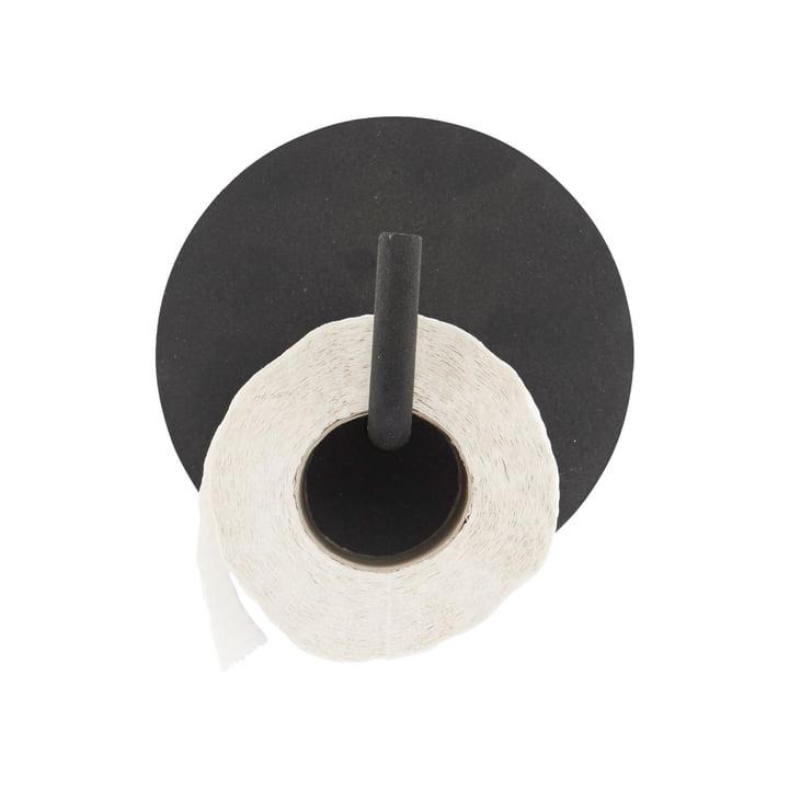 Toilettenpapierhalter Text, schwarz von House Doctor