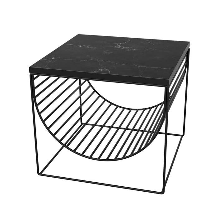 Sino Tisch / Magazinhalter von AYTM in schwarz / Marmor schwarz