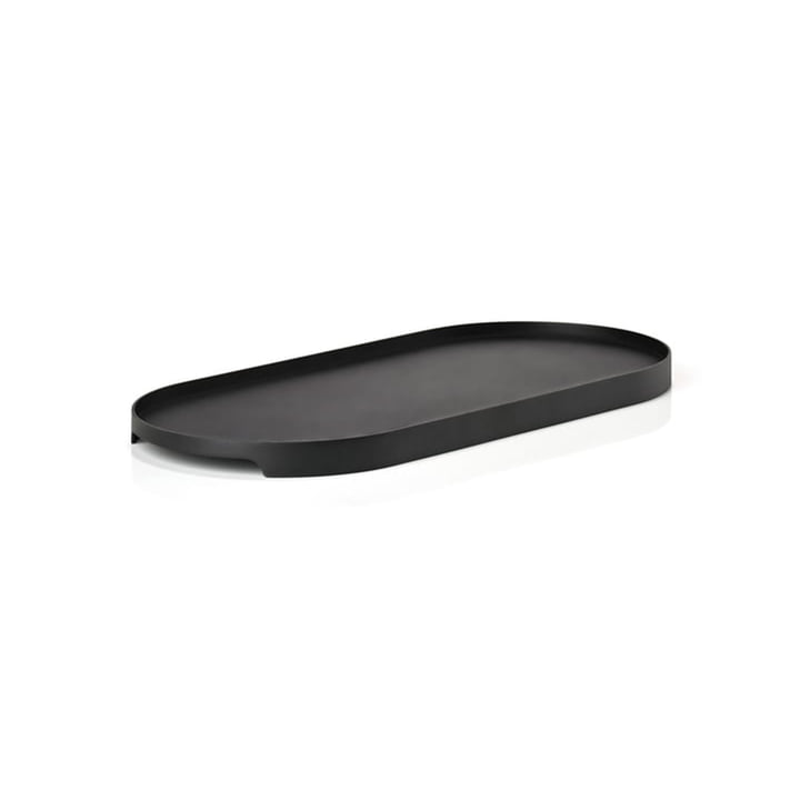Singles Metall-Tablett oval 35 x 16 cm von Zone Denmark in schwarz