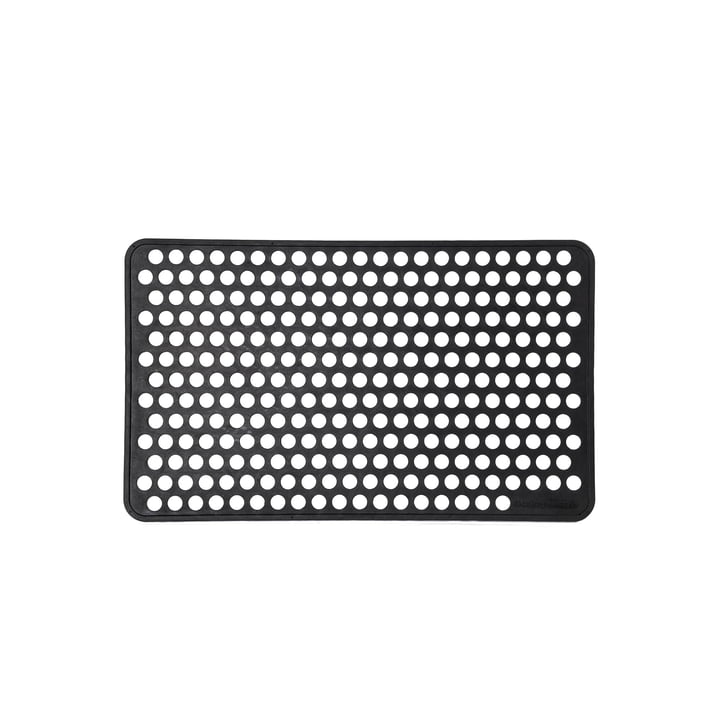 Gummi-Fussabtreter 45 x 75 cm dot von tica copenhagen in schwarz