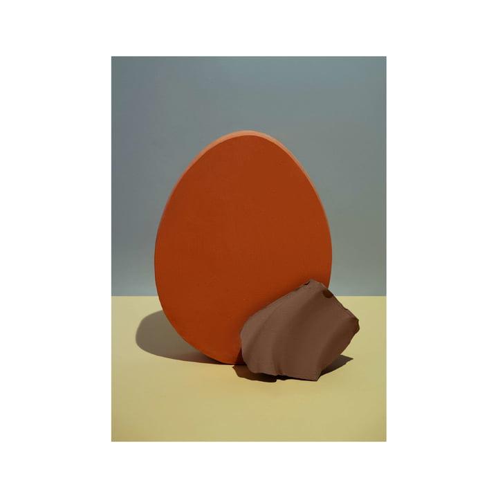 Nexus Poster 2 50 x 70 cm von ferm Living in red orange