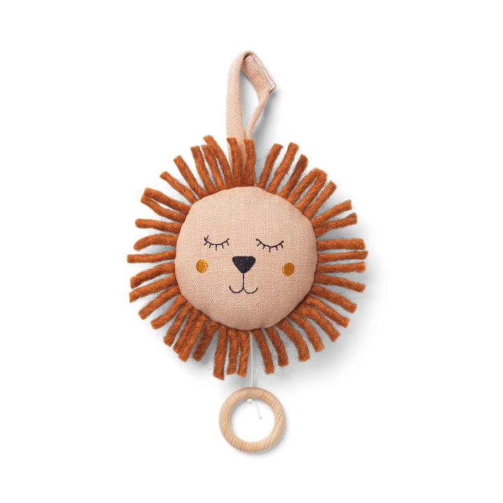Löwe Spieluhr von ferm Living in der Farbe dusty rose