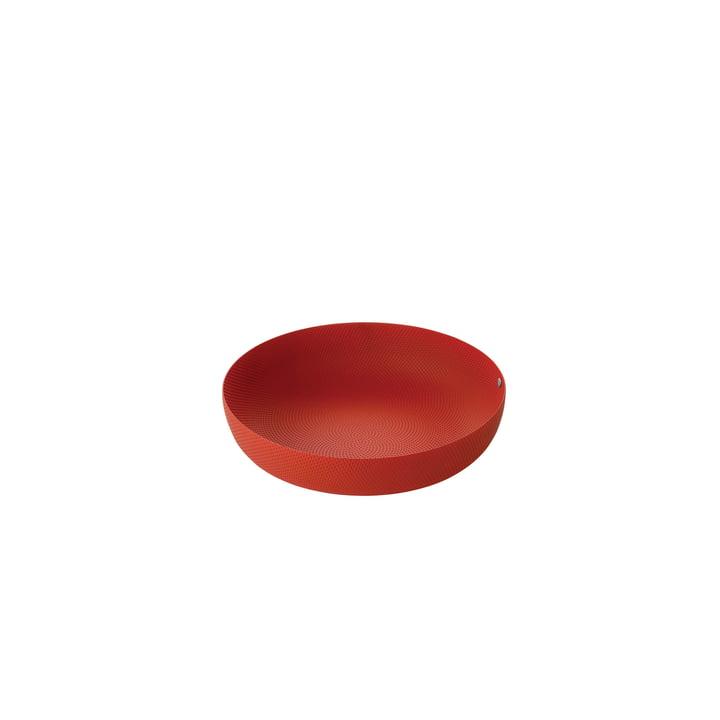 Schale Ø 21 x H 4,7 cm von Alessi in rot mit Reliefdekor