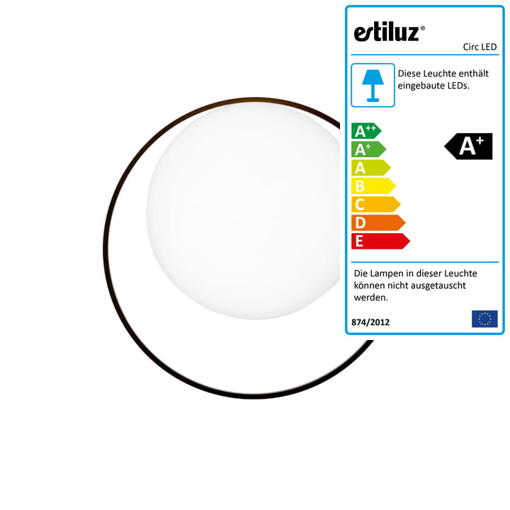 Circ LED Wandleuchte von Estiluz in schwarz
