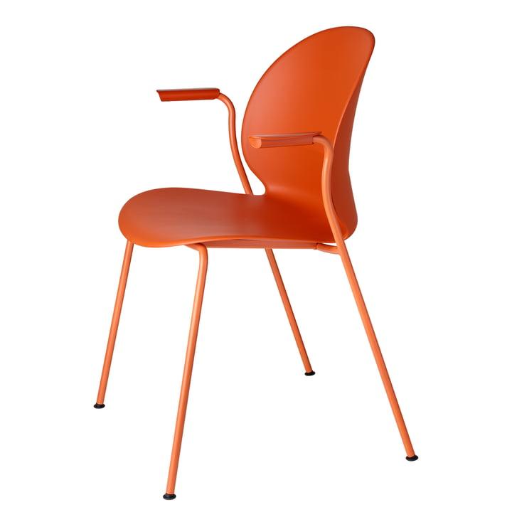N02 Recycle Stuhl mit Armlehnen von Fritz Hansen in dark orange