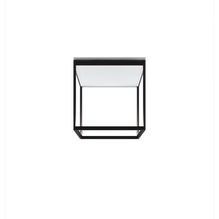 Reflex² 300 M LED-Deckenleuchte, 2700 K / 4520 lm, schwarz / Strukturglas weiss von serien.lighting