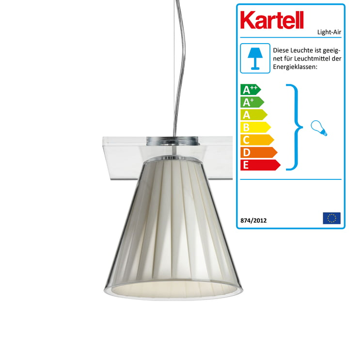 Light-Air Pendelleuchte, glasklar / beige von Kartell