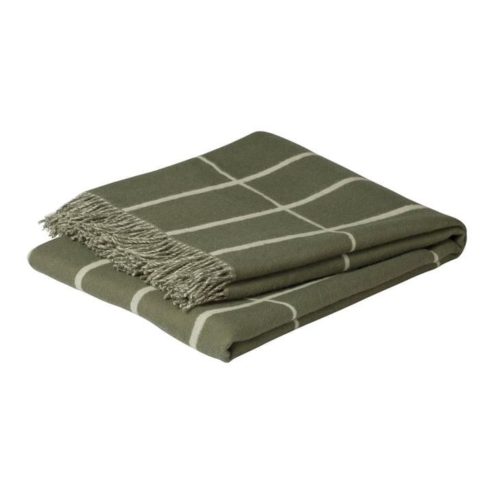 Tiiliskivi Wolldecke 130 x 180 cm, graugrün / weiss von Marimekko