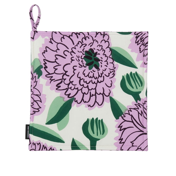 Pieni Primavera Topflappen, weiss / lila / grün von Marimekko