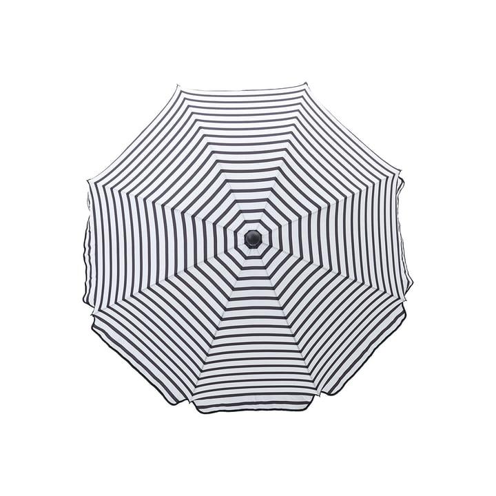 Oktogon Sonnenschirm Ø 180 cm, schwarz / weiss von House Doctor