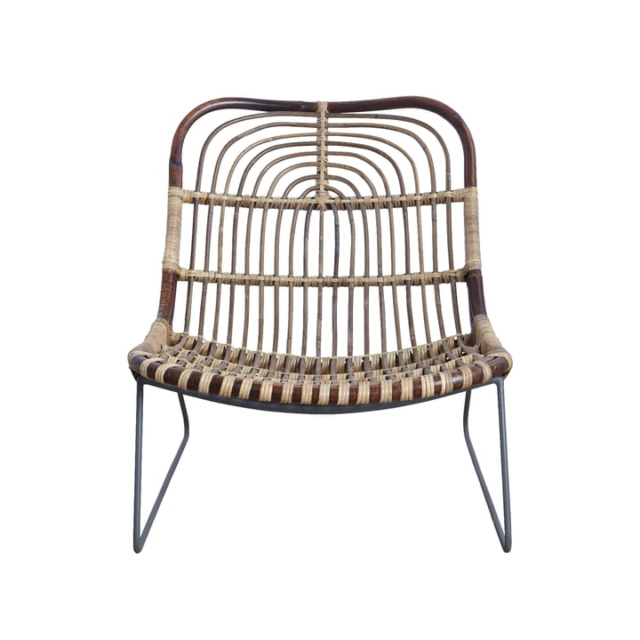 Kawa Lounge Sessel, Rattan von House Doctor