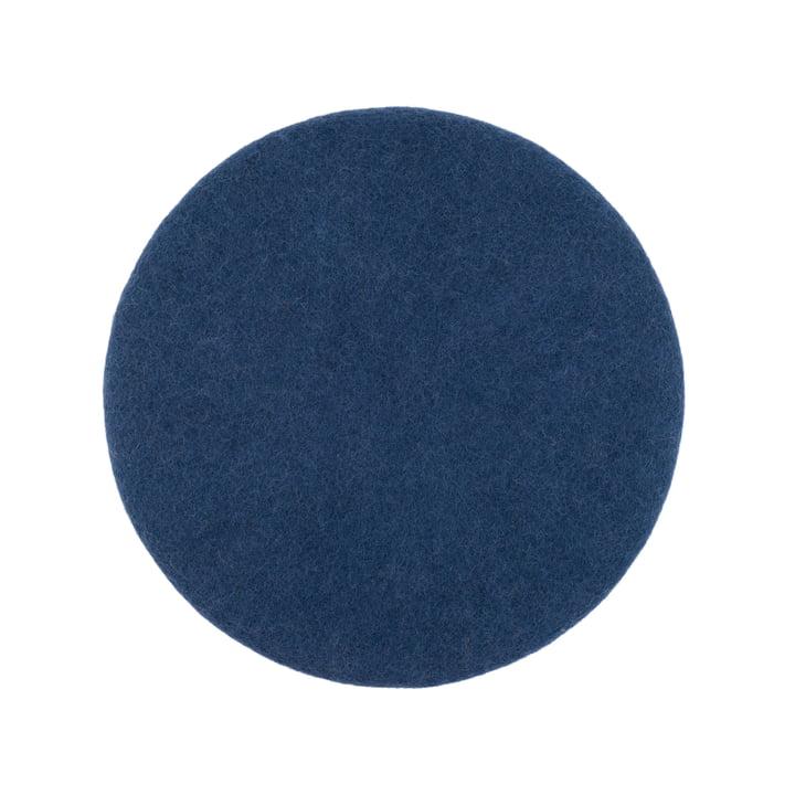Alva Sitzauflage flach Ø 36 cm von myfelt in dunkelblau