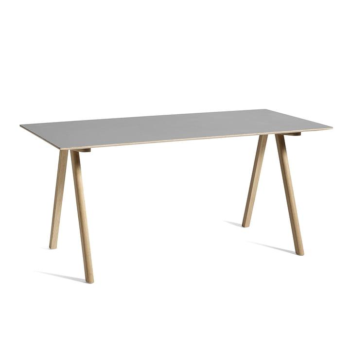 Copenhague CPH10 Tisch, 160 x 80 cm, Eiche / grau von Hay