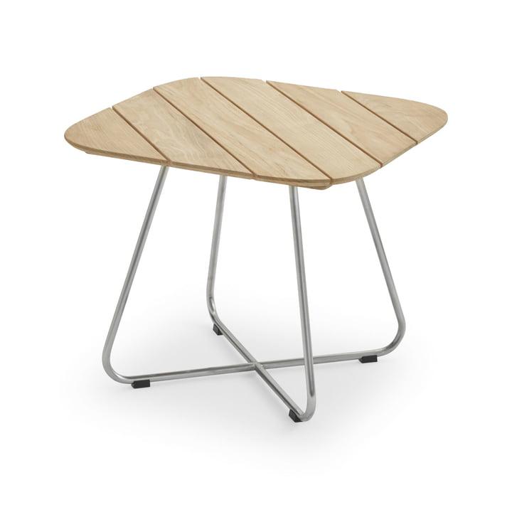 Lilium Lounge Tisch 60 x 60 cm, Teak / Edelstahl von Skagerak