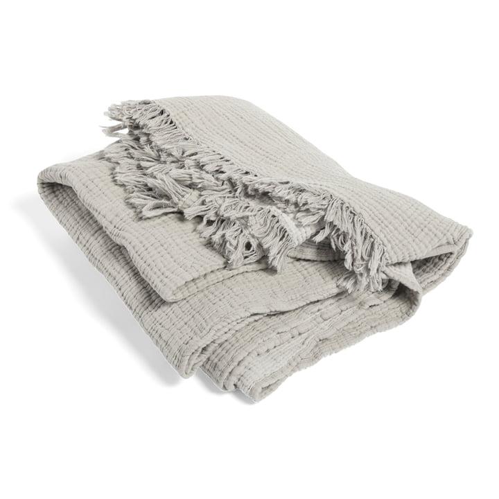 Crinkle Wolldecke von Hay in grau