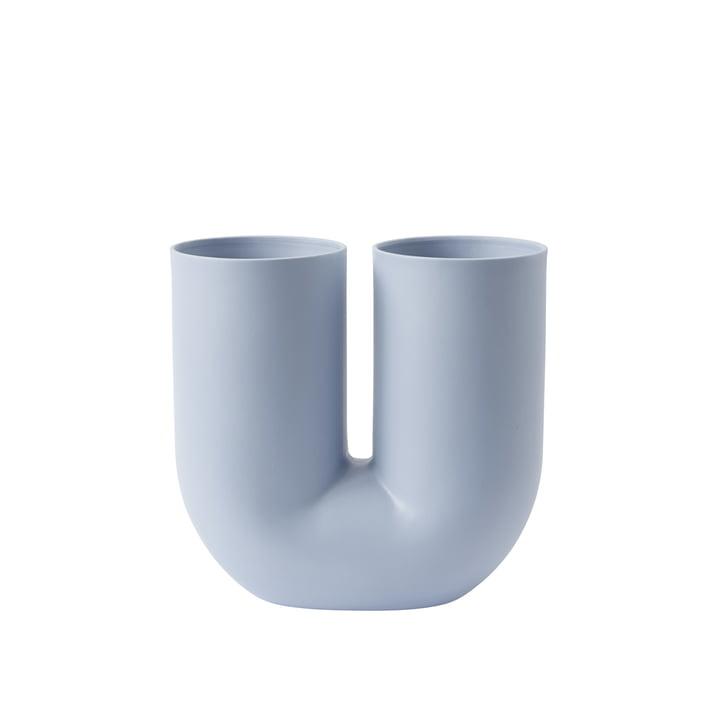 Kink Vase von Muuto in Hellblau