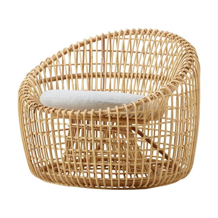 Nest Round Sessel Indoor, natur / hellgrau von Cane-line