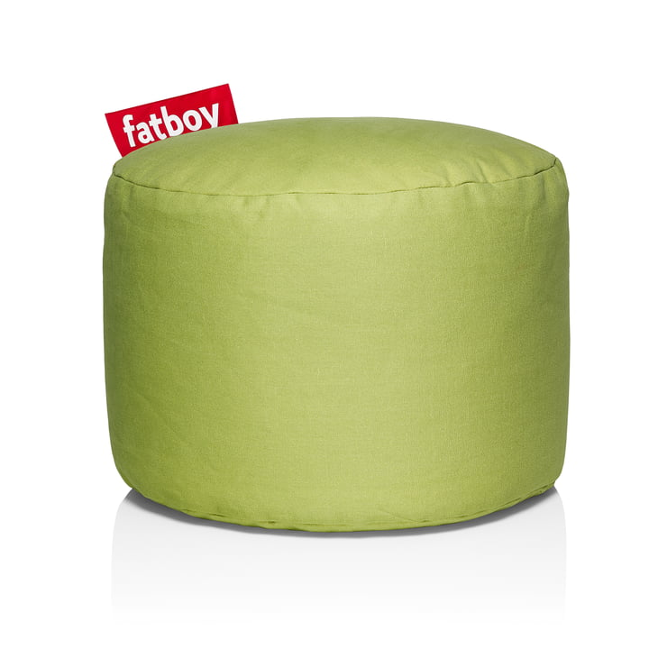 Point Stonewashed Sitzhocker von Fatboy in lime green