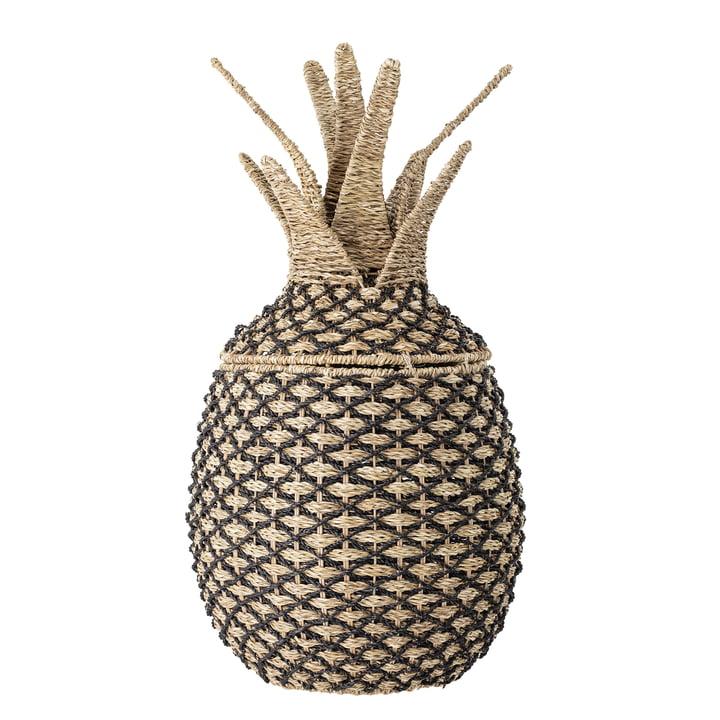 Aufbewahrungskorb Ananas von Bloomingville in natur / schwarz