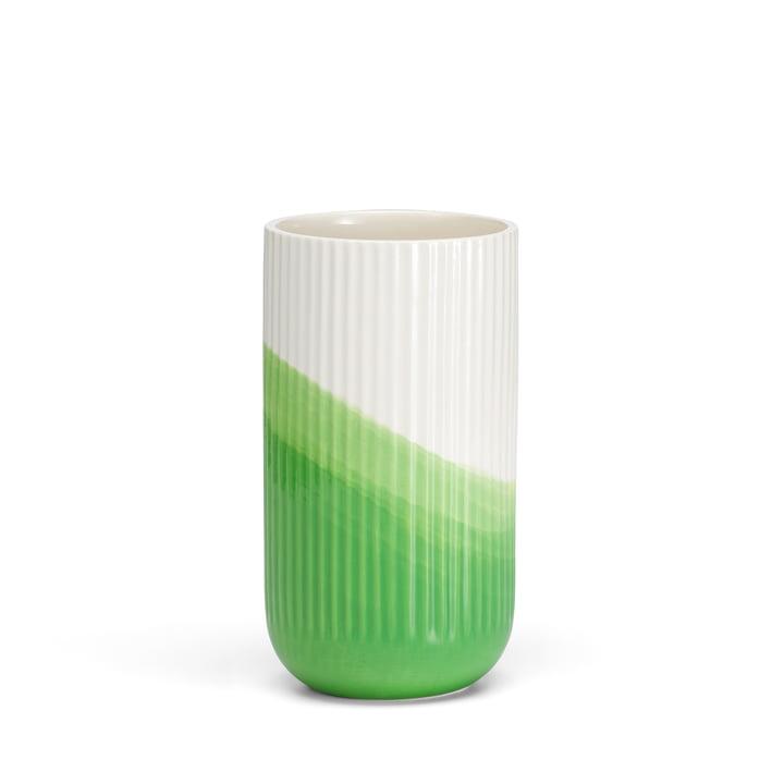 Vitra - Herringbone Vase geriffelt H 24,5 cm, grün