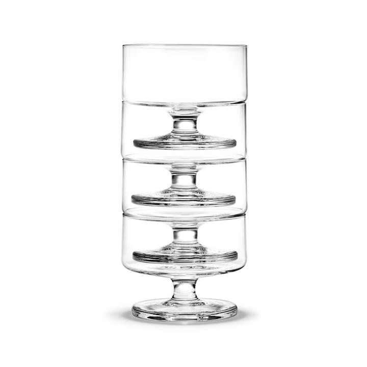 Stub Champagnerglas 20 cl (4er-Set) von Holmegaard in klar