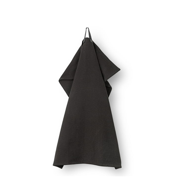 Rå Geschirrtuch 50 x 70 cm von Juna in schwarz