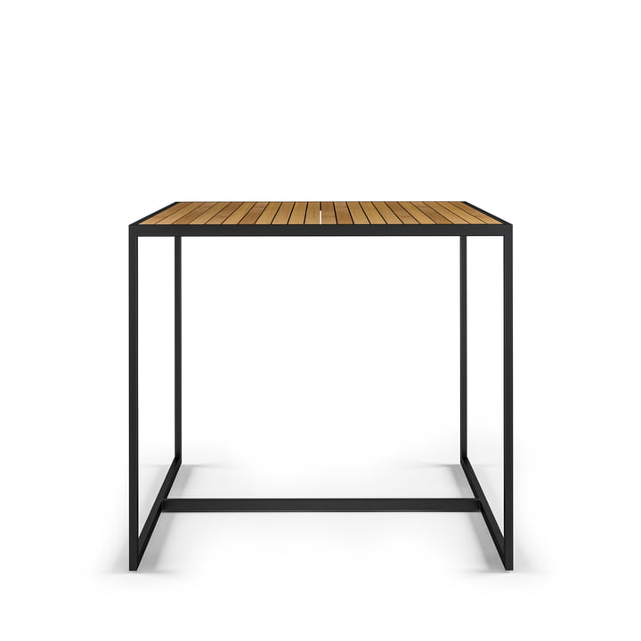 Open Bistro Tisch 100 x 100 cm, Edelstahl / Teak von Röshults