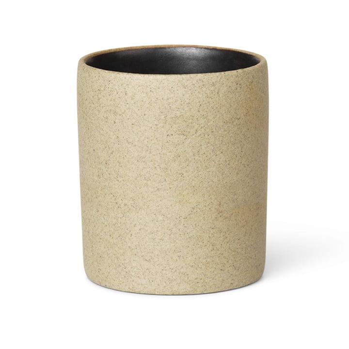 ferm Living - Bon Accessoires Becher, beige / schwarz