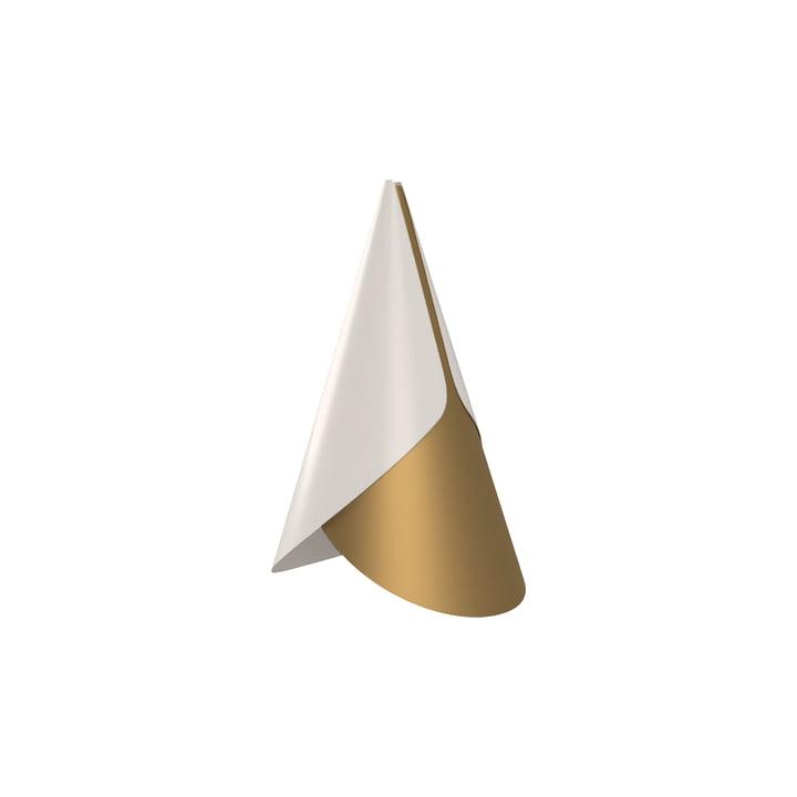 Umage - Cornet Lampenschirm, Ø 13.4 x 23.8 cm, Messing / weiss