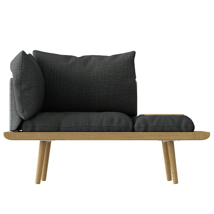 Lounge Around 1.5 Sitzer von Umage in Eiche / slate grey / dark grey