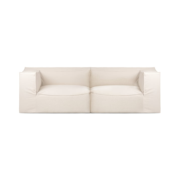 Catena 2-Sitzer Sofa Dry Cotton Slub von ferm Living in off-white