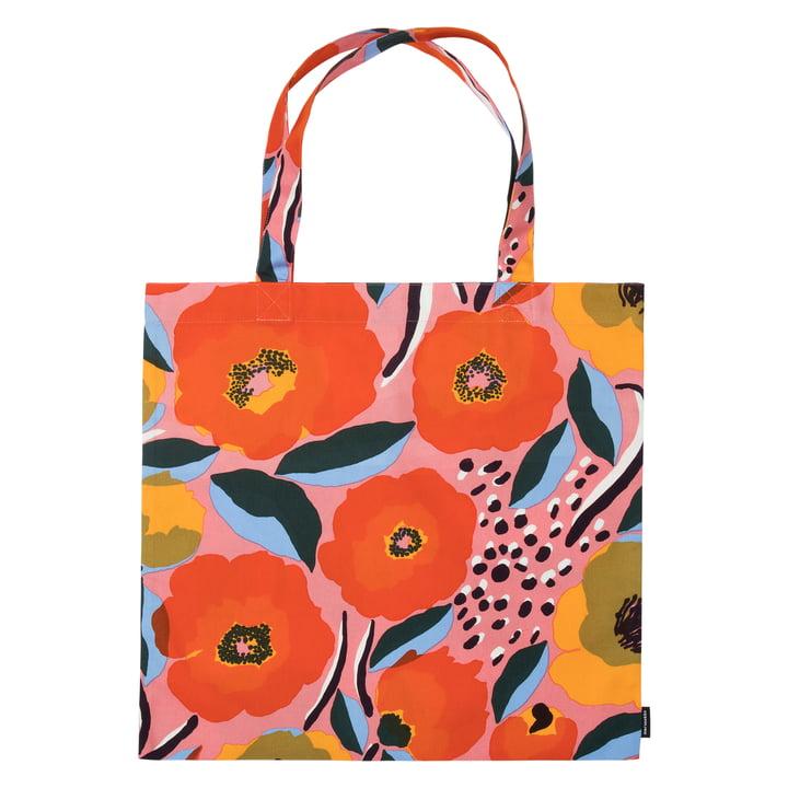 Rosarium Einkaufstasche von Marimekko in pink / blau / rot