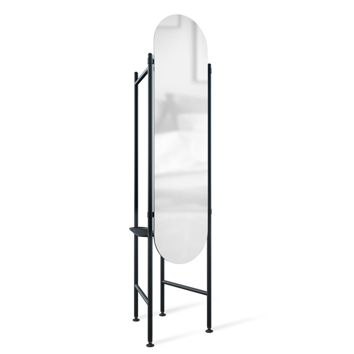 Vala Standspiegel mit Garderobe von Umbra schwarz