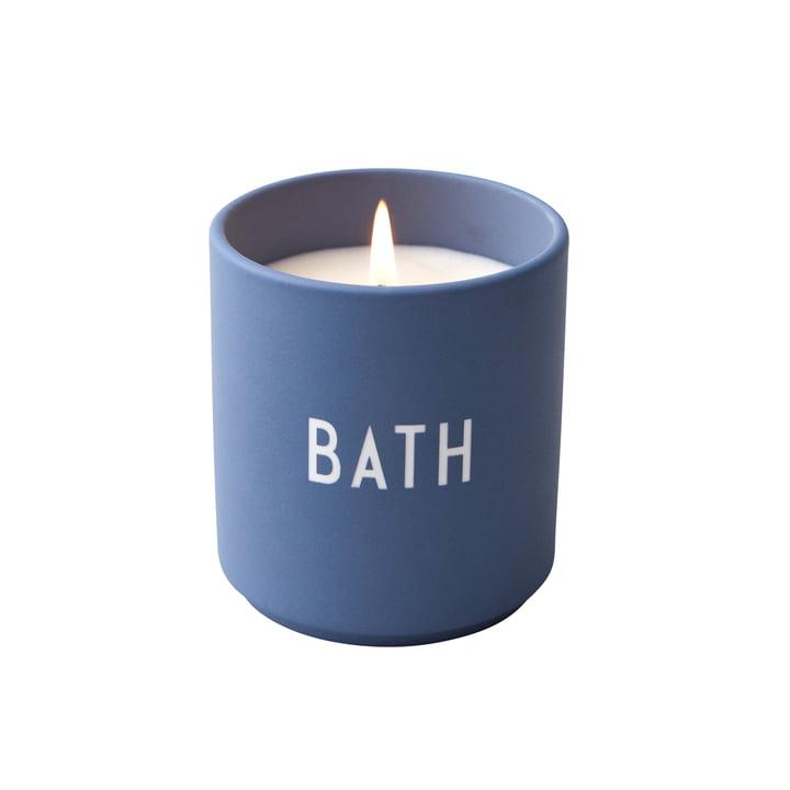 Duftkerze, Bath / blau von Design Letters